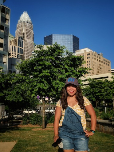 Kriska, pictured at Romare Bearden Park, Uptown CLT