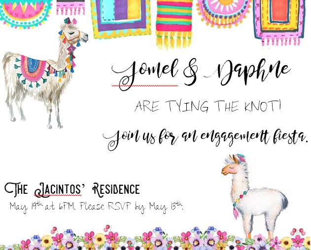J&D Engagement Fiesta Invitation