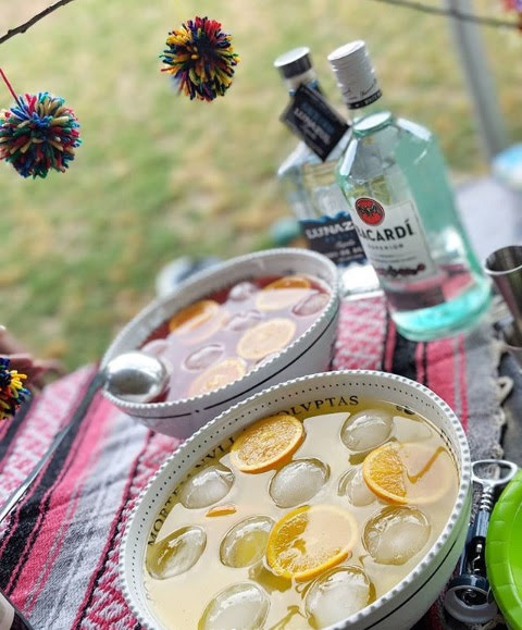 Punch Bowls of Agua Fresca