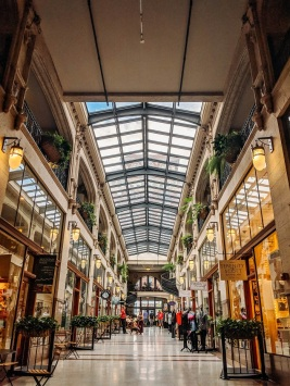 The Grove Arcade has many different shops and restaurants!
