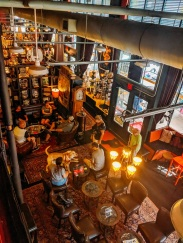 One of the cute bookstores we popped into--this one is a wine and coffee bar, too!